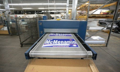 screen printing, screen, press, printing omaha, spot color, corrugated, yard signs, road signs, field signs, directional signs, real estate signs