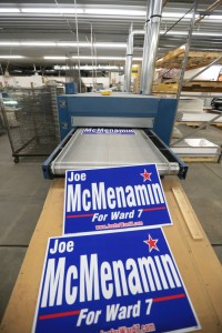 Printing for Omaha and National Clients - Political Yard Signs- Design 4 Inc.
