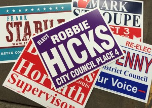 Printing for Omaha and National Clients - Political Signs - Design 4 Inc.