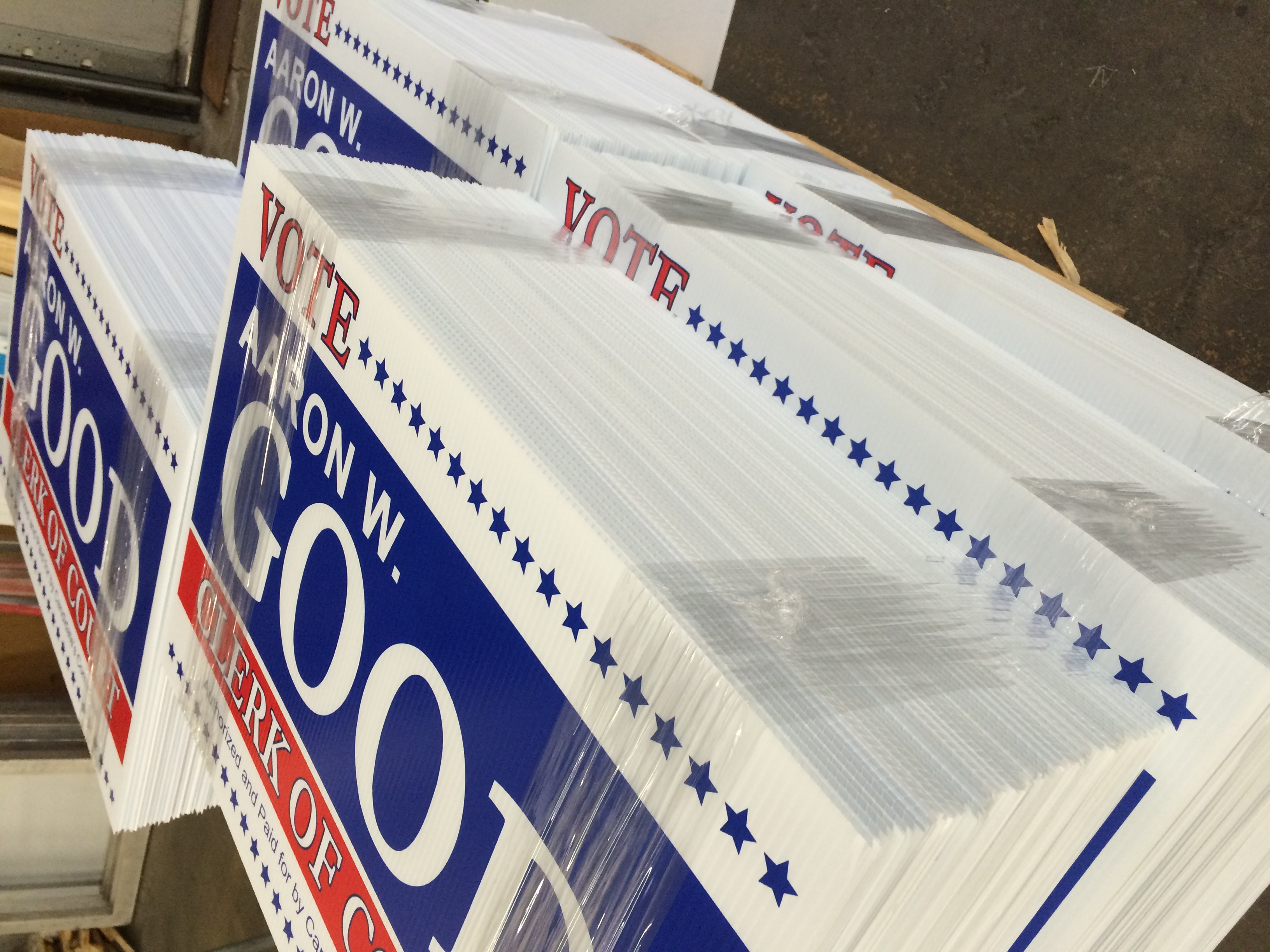 Corrugated Yard Signs - Des Moines, IA