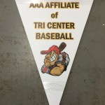 Pennant, Triangle sign, custom shape, die cut, die cut sign, full color, digitally printed sign, custom digital sign