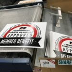 Yard signs, corrugated plastic, screen print, business needs